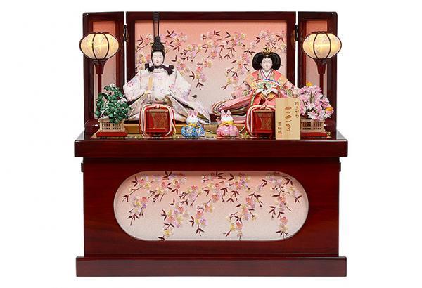 雛人形 小三五サイズ コンパクト収納飾り