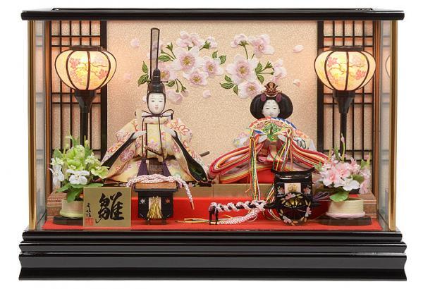 雛人形 コンパクトケース 小芥子サイズ 親王飾り